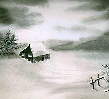 Frosty Winter Morn by Debbie  Adams