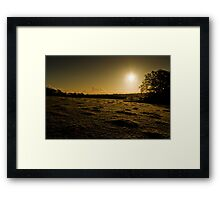 Cold Sunrise Framed Print