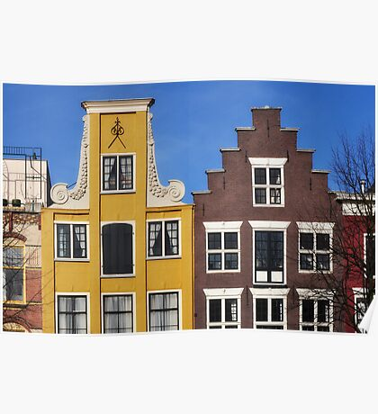 Colorful houses in Holland Poster