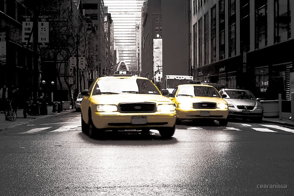 Two Yellow Taxis by cearanissa