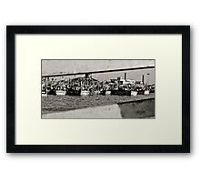 Sliced View Framed Print