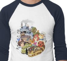 Ghibli Men's Baseball ¾ T-Shirt