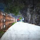 On Sidewalk Trail by saseoche
