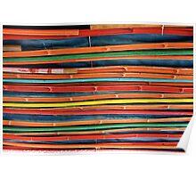 Rainbow Rods Poster