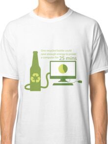 Recycled Glass Bottle Illustration  Classic T-Shirt