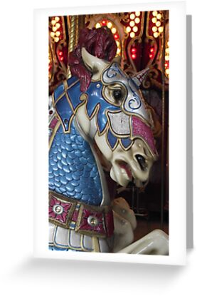 Unicorn warrior carousel horse by iheartrhody