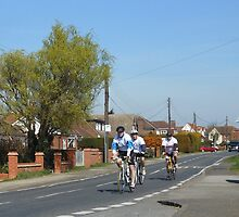 Cyclists in a Country Lane by MidnightMelody