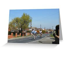 Cyclists in a Country Lane Greeting Card