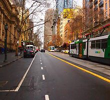 Collins Street Melbourne VIC Australia by Margaret Morgan (Watkins)