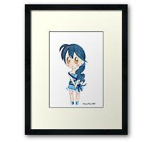Ribbon Girl Framed Print