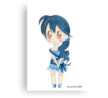 Ribbon Girl Canvas Print