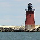 Cape Henolpen Lighthouses by searchlight