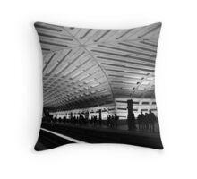 DC Metro Station Throw Pillow