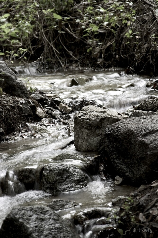 Between the Rock and the Stream by dirtfaery