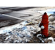 Frozen Fire-Hydrant Photographic Print