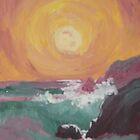 West Coast Ocean Sunset by Jennifer Ingram