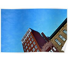 Brick Building at Midday Poster