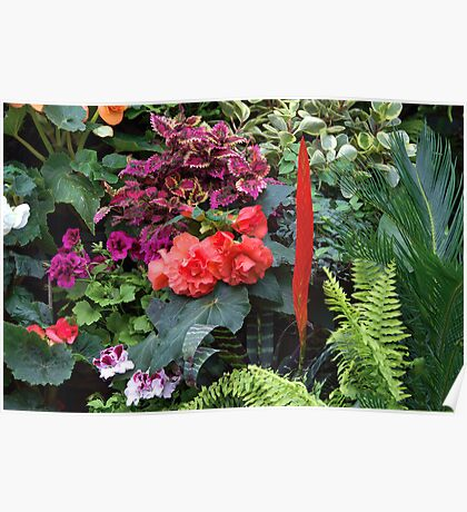 """the Showhouse  •   """"Interior Flower Gallery""""  •  Butchart Gardens Poster"""