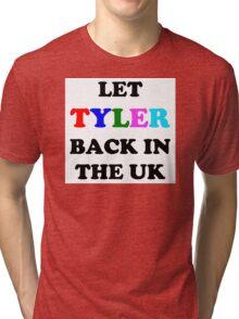 Let Tyler Back in the UK - Tyler, the Creator Tri-blend T-Shirt