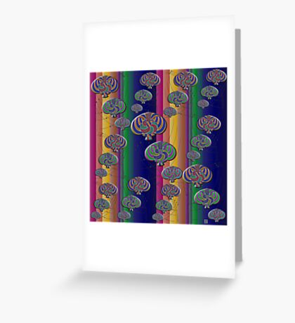 """""""Null Lines Wick Rotation Congruence 2""""© Greeting Card"""