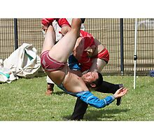 Mongolian Wrestling Photographic Print