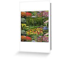 Kaleidoscope of Colours - Keukenhof Collage Greeting Card