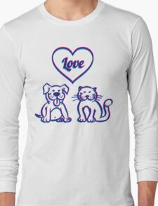 Cat and dog Long Sleeve T-Shirt