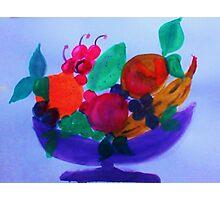 Fruit Bowl, watercolor Photographic Print