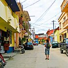 A Quiet Street in Flores  by Heather Friedman