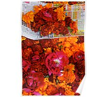 Marigolds and Roses, Pushkar Poster