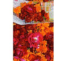 Marigolds and Roses, Pushkar Photographic Print
