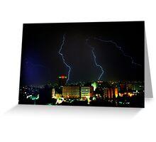 Lightning over Amman Greeting Card