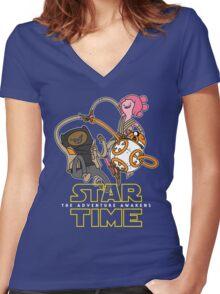 Star Time - The Adventure Awakens Women's Fitted V-Neck T-Shirt