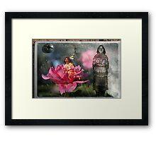 Running Standing Still: Nokomis and Hiawatha Framed Print