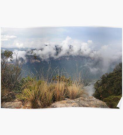 Grose Valley Mist - Anvil Rock NSW Australia Poster