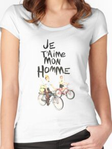 Je T'aime Mon Homme Women's Fitted Scoop T-Shirt