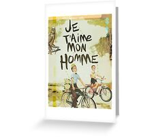 Je T'aime Mon Homme Greeting Card