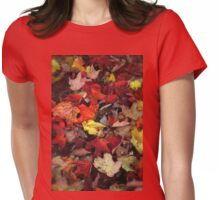 LEAVES OF COLOUR Womens Fitted T-Shirt