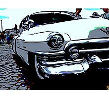 Cartoon of a classic car Photographic Print