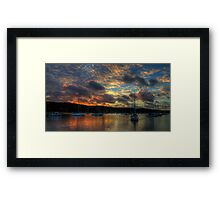 Home And Away - Newport Anchorage, Sydney - The HDR Experience Framed Print