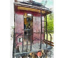 Red Caboose Photographic Print