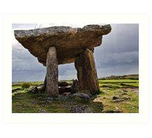 Dolmen, The Burren, County Clare, Ireland Art Print
