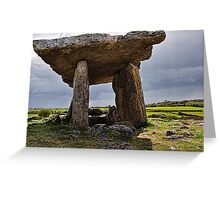 Dolmen, The Burren, County Clare, Ireland Greeting Card