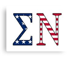 Sigma Nu American Flag Canvas Print