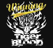 Winning Formula - Tiger Blood - Yellow Winning by wittytees
