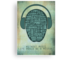 I love music redux Canvas Print