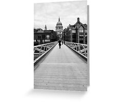 The Wibbly Wobbly Bridge Greeting Card