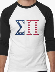 Sigma Pi American Flag Men's Baseball ¾ T-Shirt
