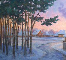 Pine-trees at sunset by Vera Kalinovska