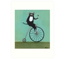 Lucky on a Bike Art Print